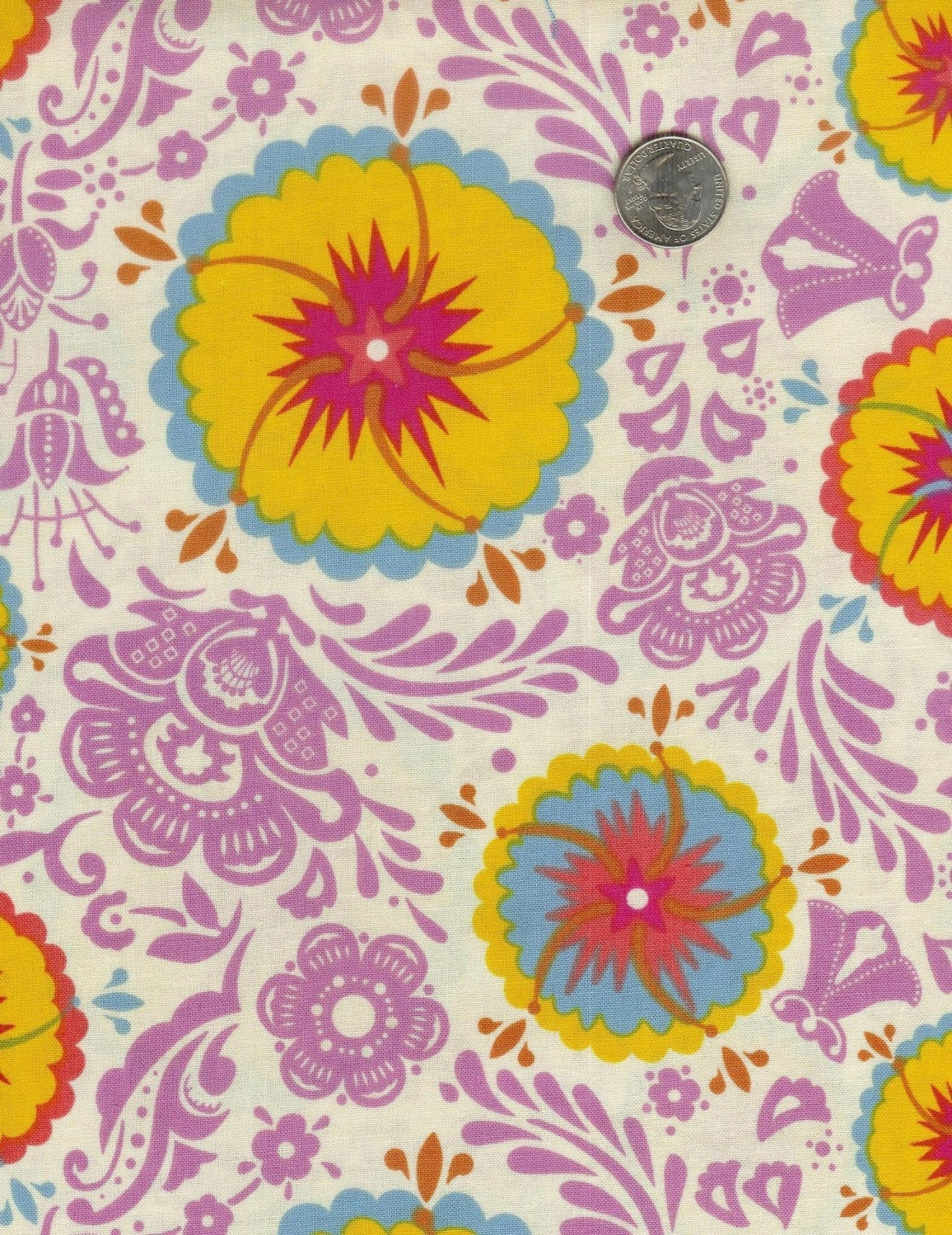 NEW - Fat quarter - Anna Maria Horner Good Folks - Fortune in Sun - cotton quilt fabric