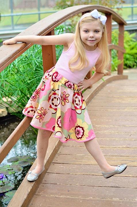Vintage Inspired Circle Twirl Skirt - GirliePearlie3