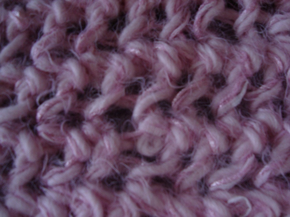 Pink Fuzzy Warm Scarf 53 1/4 inches