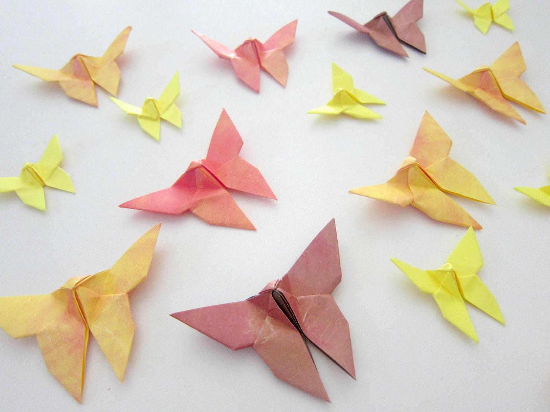 50 Sunflower Sunshine Origami Butterflies