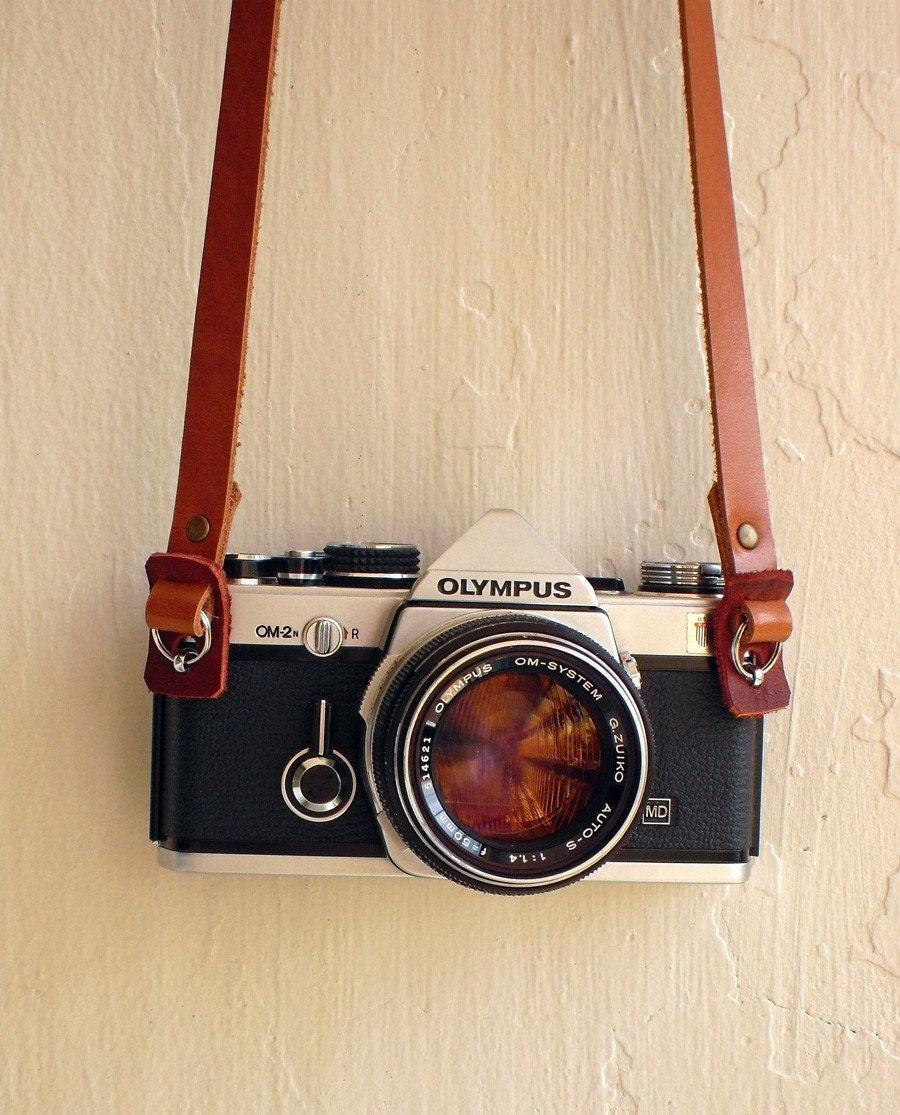 leather camera strap by hideindustrie on etsy