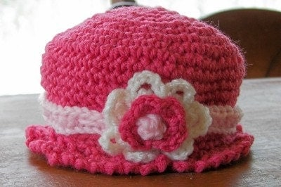 Newborn Baby Girl Pink Cloche