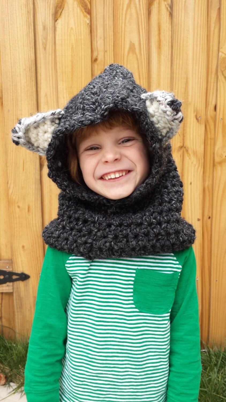 Вязание капюшона волка 37