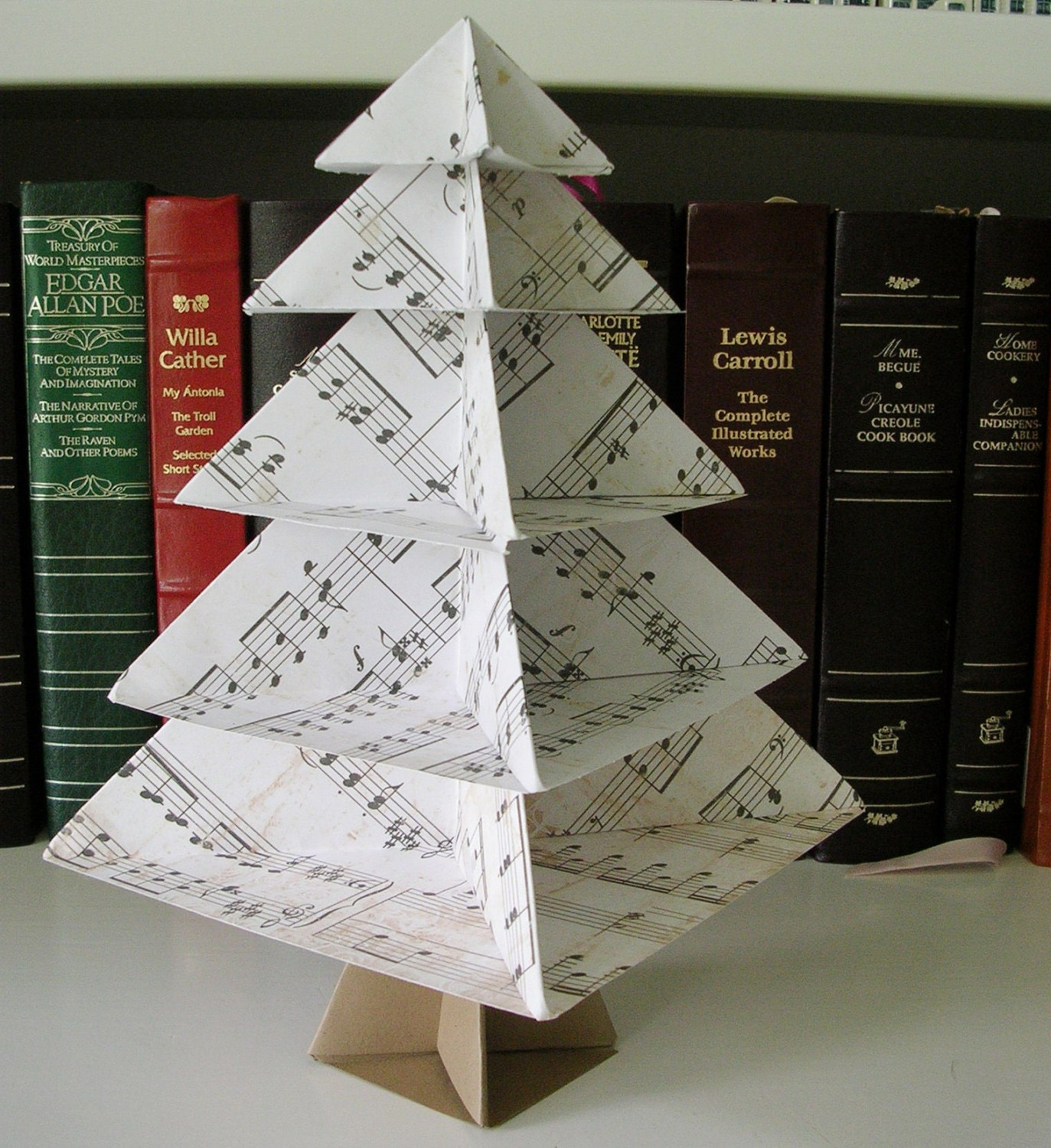 origami tree sheet music desk or table by paperimaginations