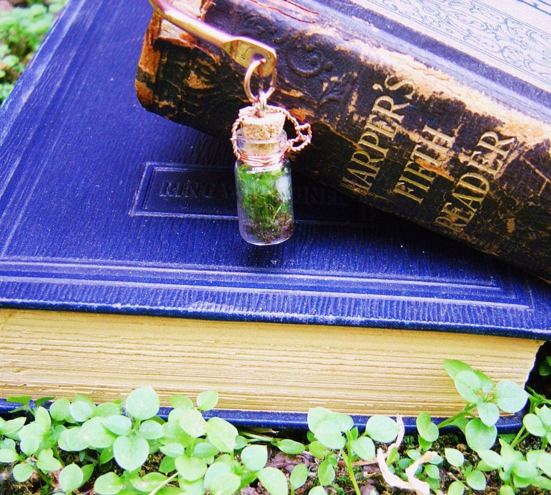 Miniature Moss Garden Bookmark