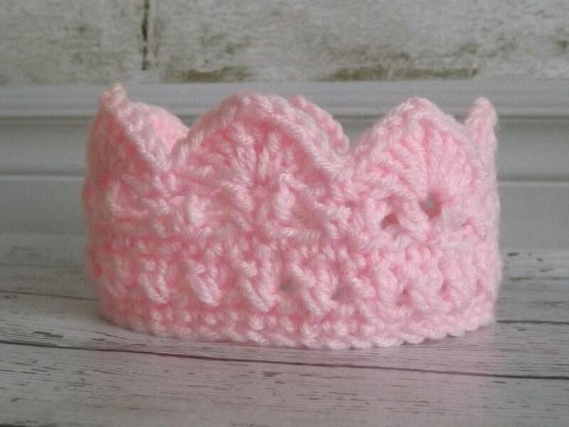 Baby Crown Crochet Crown Pink Crown Prince Crown Princess Crown ...