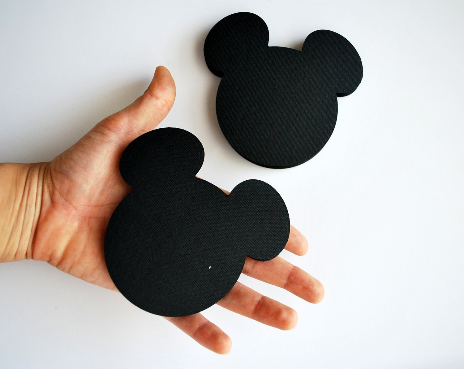 24 Mickey Mouse die cut (4 x3.75 inches) in Black ,CIJ - christmas in july
