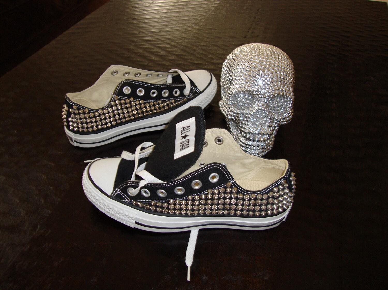 Custom One Sided 80's Spike Studded Converse Shoes