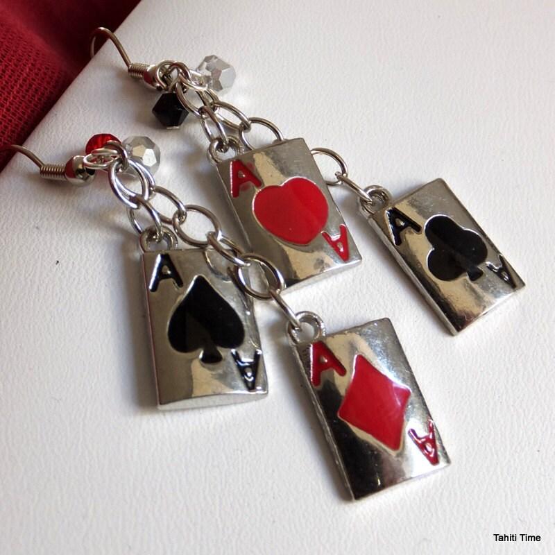 Poker earrings