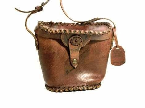 All Bags Must Go..Half Off All Bags..Enter Coupon Code GOBAG.   vtg leather tooled suncatchers bucket bag. brazilian shoulder bag - yourvintagesole