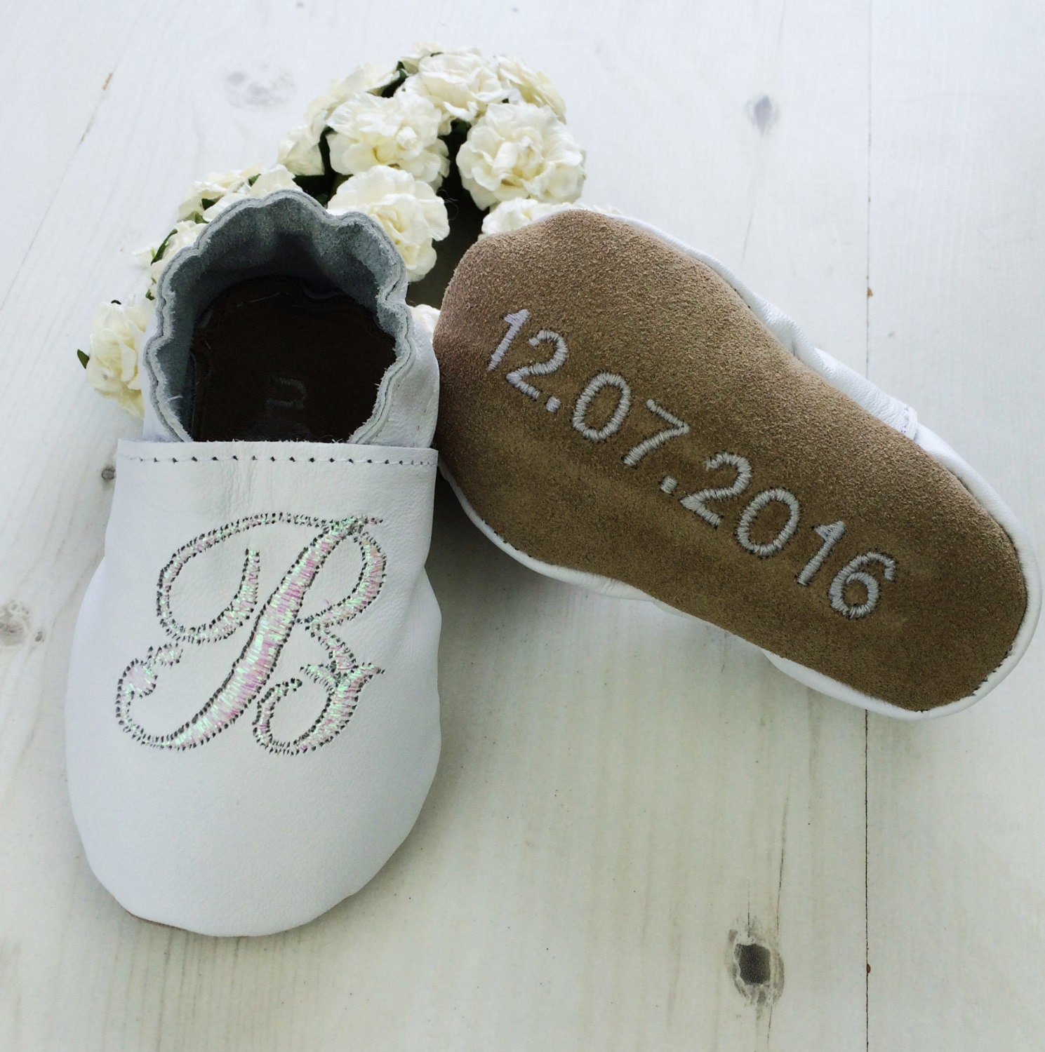 Baptism shoes  Iridescent  Personalized baptism shoes  Baptism gift  Christening gift  christening shoes  christening outfit