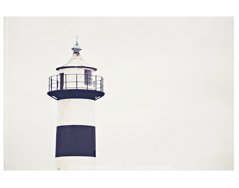 "Lighthouse, Navy, White, Nautical, 10x8"" Fine art photography"