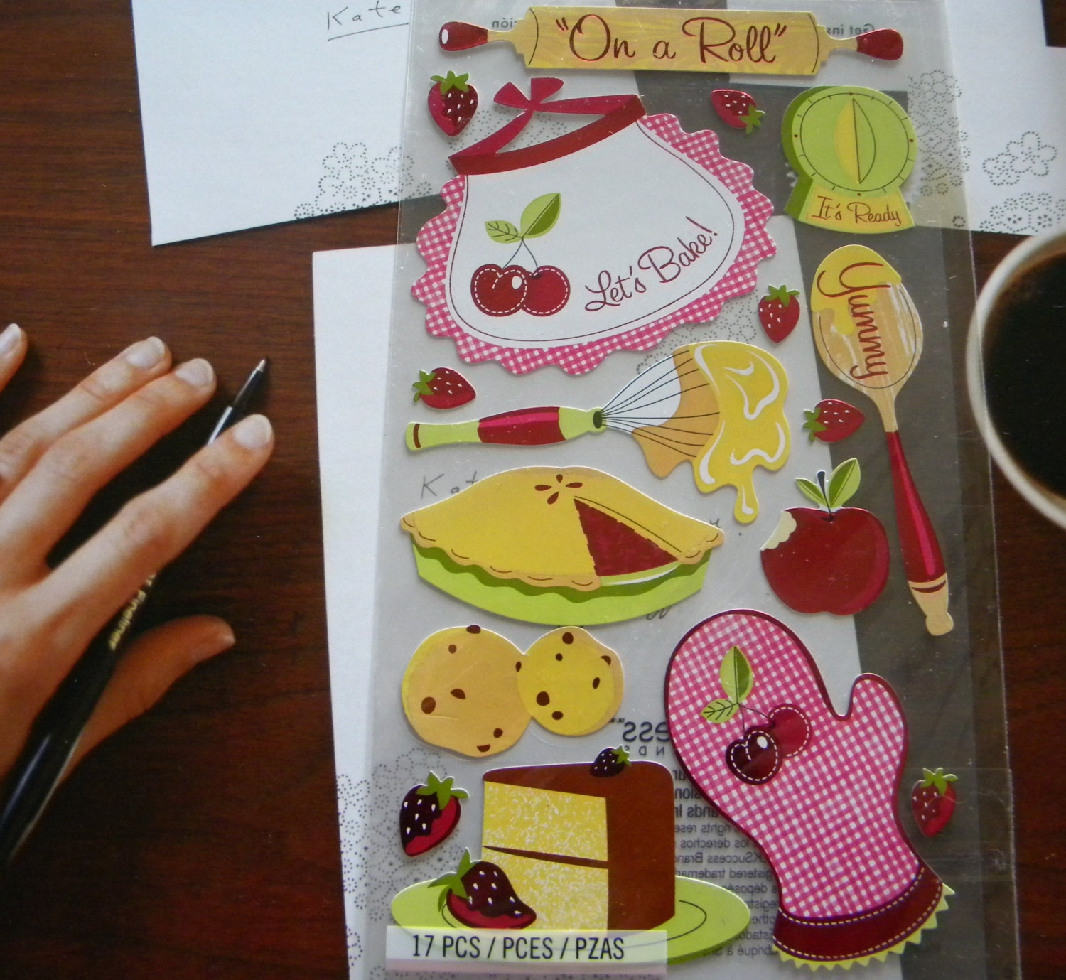 Baking food themed scrapbooking sticker by thediycraftshop for Scrapbooking cuisine