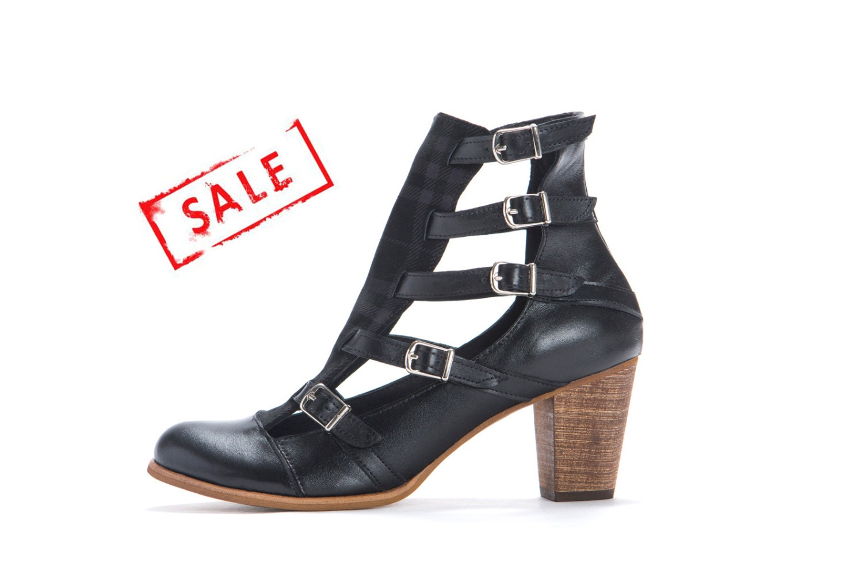 sale high heel shoes unique boots black 7 cm heel by