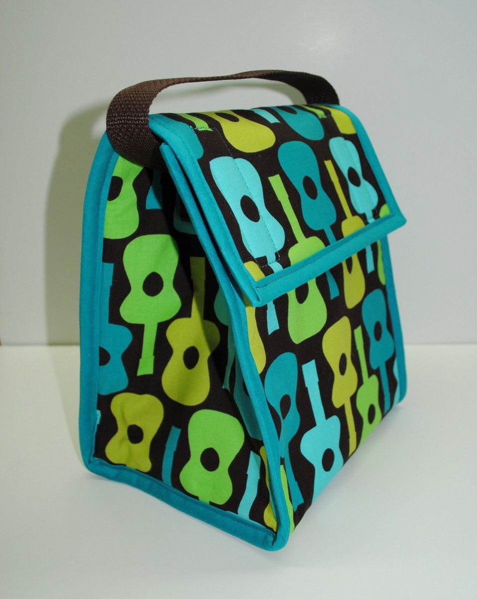 Insulated Lunch Bag Michael Miller Groovy Guitar