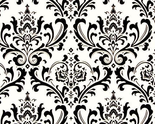 Black On White Traditions Damask Design Custom Shower By