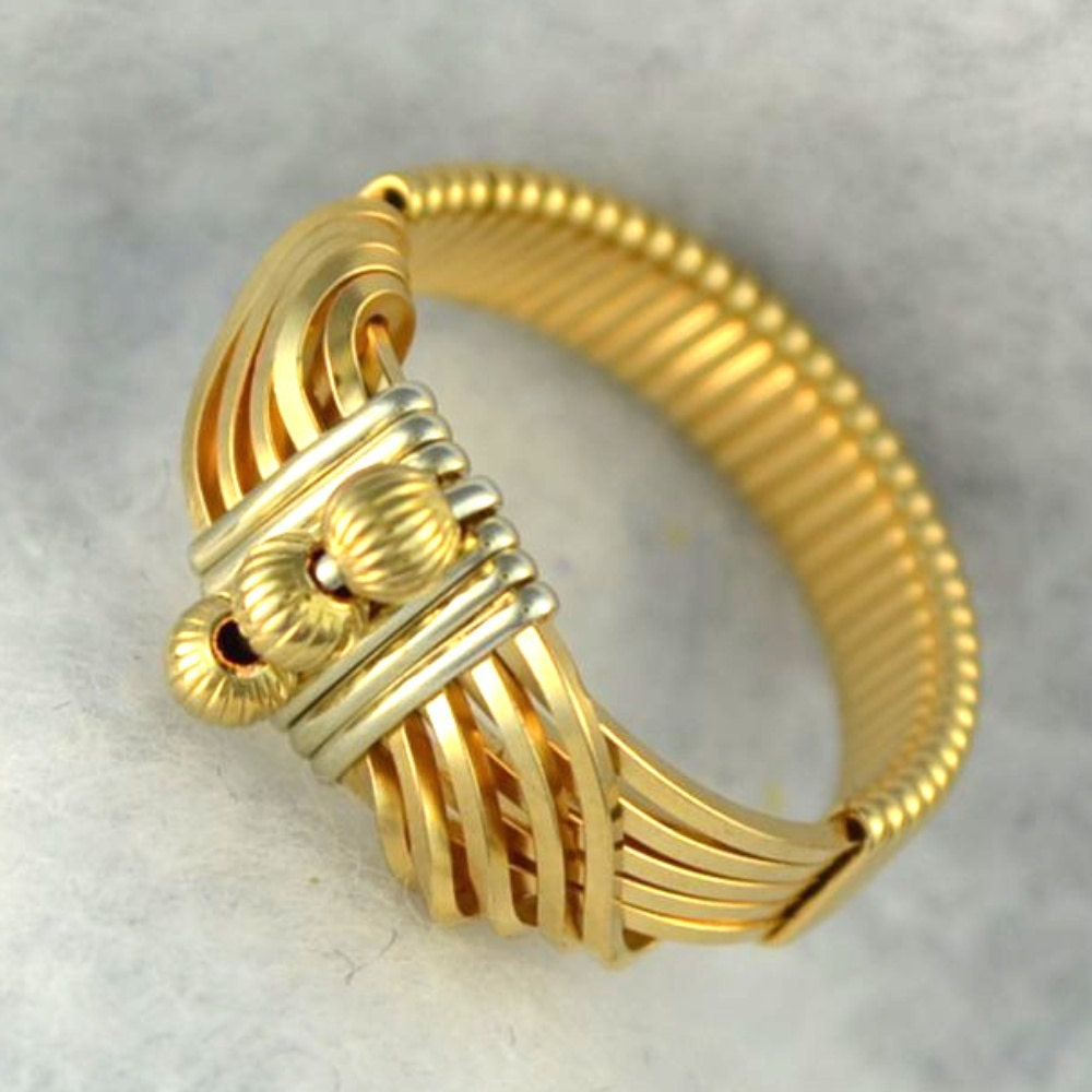 "Wire wrapped Ring 14K gold filled  sterling silver accents.  ""Sultan's Ring"" - Untwistedsister"