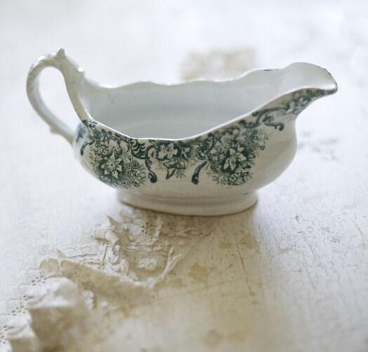 porcelain gravy boat