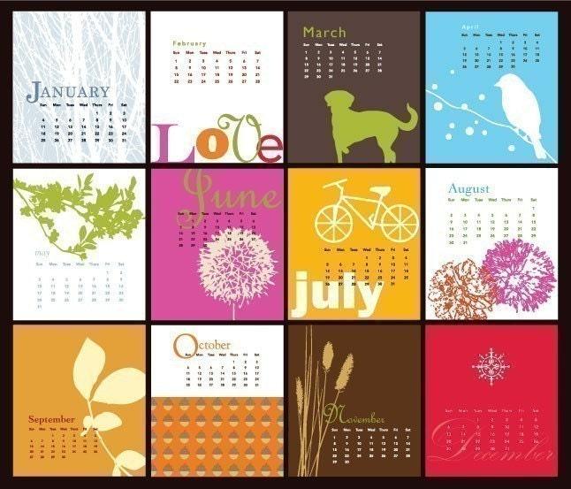 Modern Art Everyday 2009 Desk Calendar