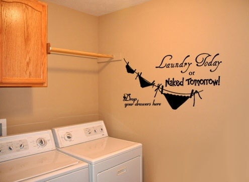 Big laundry room 4 vinyl wall quote decal by idgrams on etsy