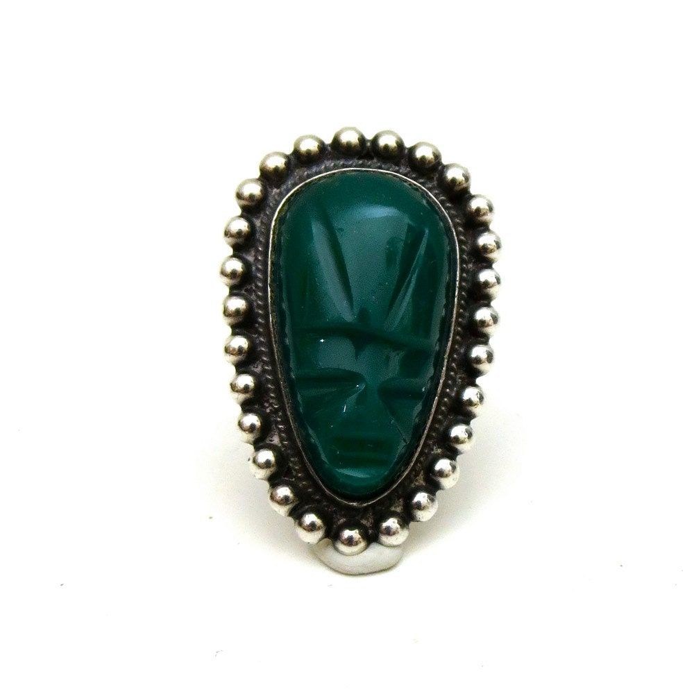 vintage 1950s taxco ring sterling silver by