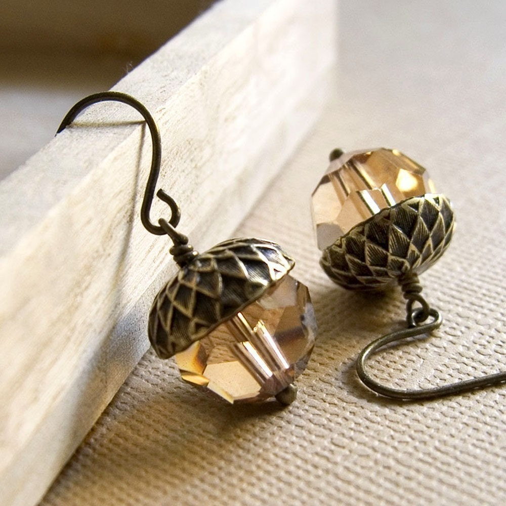 Luxe Acorn Earrings
