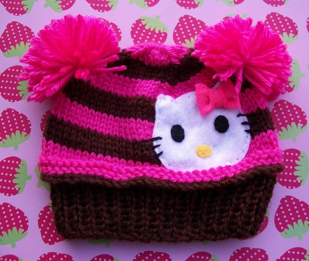 HELLO KITTY You're So Pretty Cupcake Hat-Newborn size is ready to ship