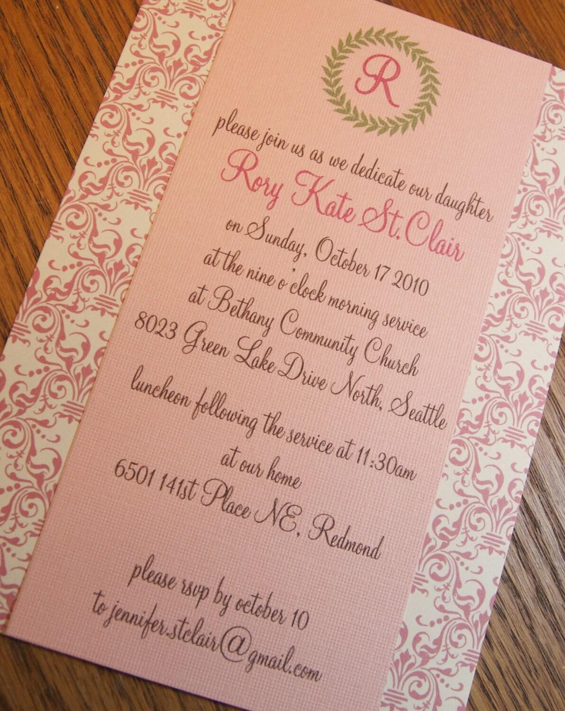 baby dedication invitation template .