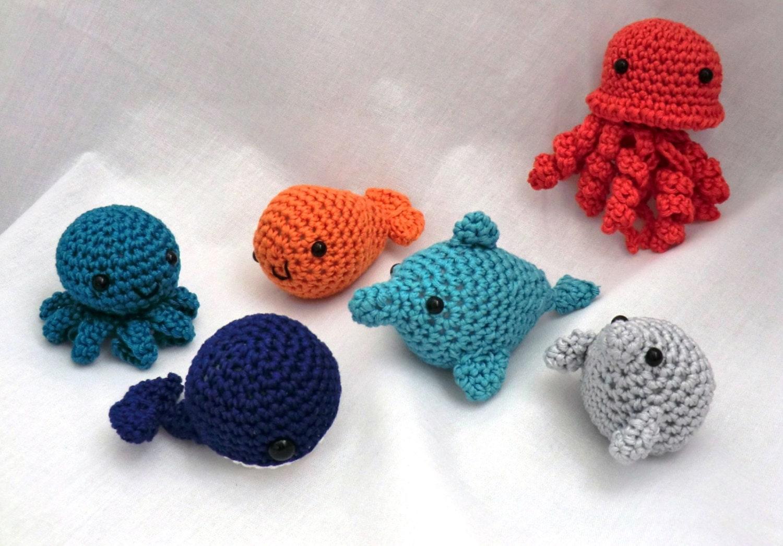 Mini Amigurumi Whale : Mini amigurumi water babies PDF crochet pattern by ...