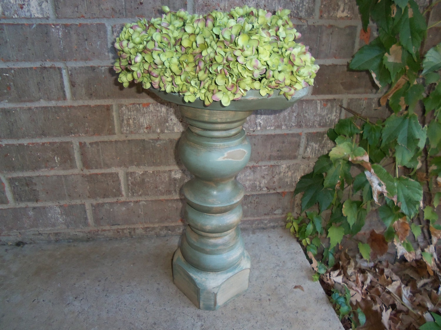 wood architectural piece wood pillar candle holder by frenchtwine