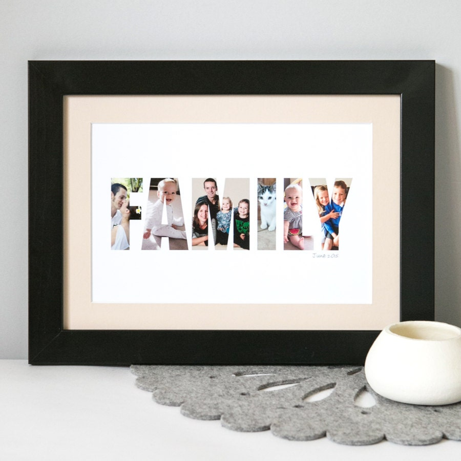 Family Photograph print  Personalised Print for Family  photo gift for family  personalized Family gift  family keepsake  family gift