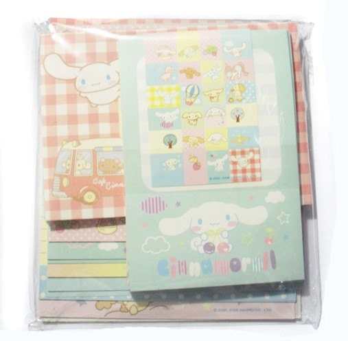Kawaii memos Cinamaroll stationarry and letter set