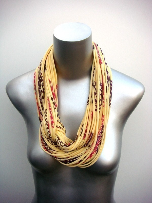 yellow summer neck scarf
