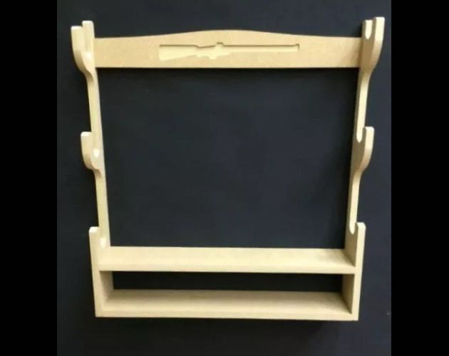 C16 Gun Rack Cabinet for 3 Air soft guns with bottom shelf  baize protection