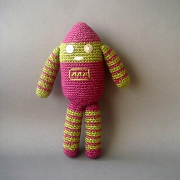 Amigurumi robot Crocheted aod
