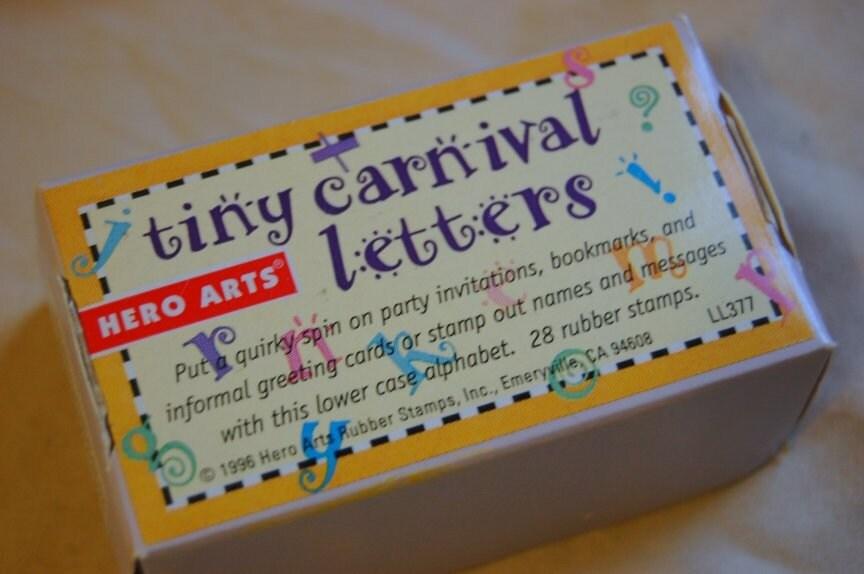 Carnival Letter Stamps