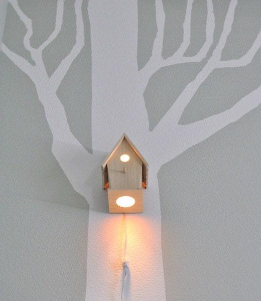 Avery Wall Hanging Birdhouse Lamp : Avery Wall Hanging Birdhouse Lamp Modern by moderntreetopbaby
