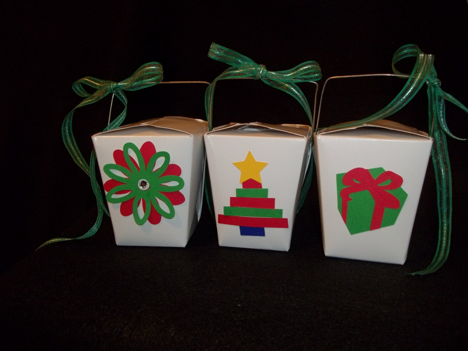 Party Favor Chinese Take Out Boxes : Items similar to christmas themed chinese take out