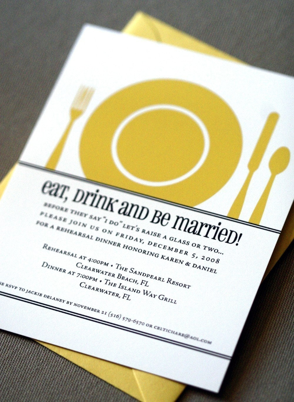 The Plate Invitation