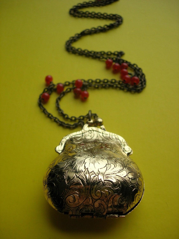 Victorian Purse Locket Necklace from etsy.com