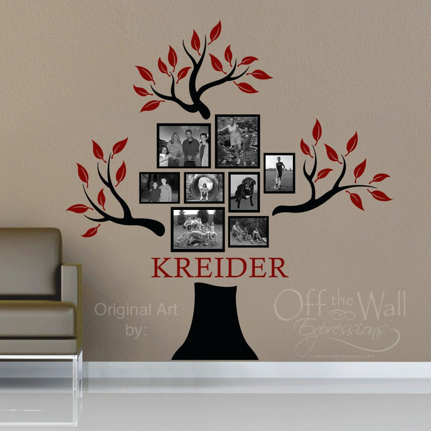 Personalized Family Tree Vinyl Decal