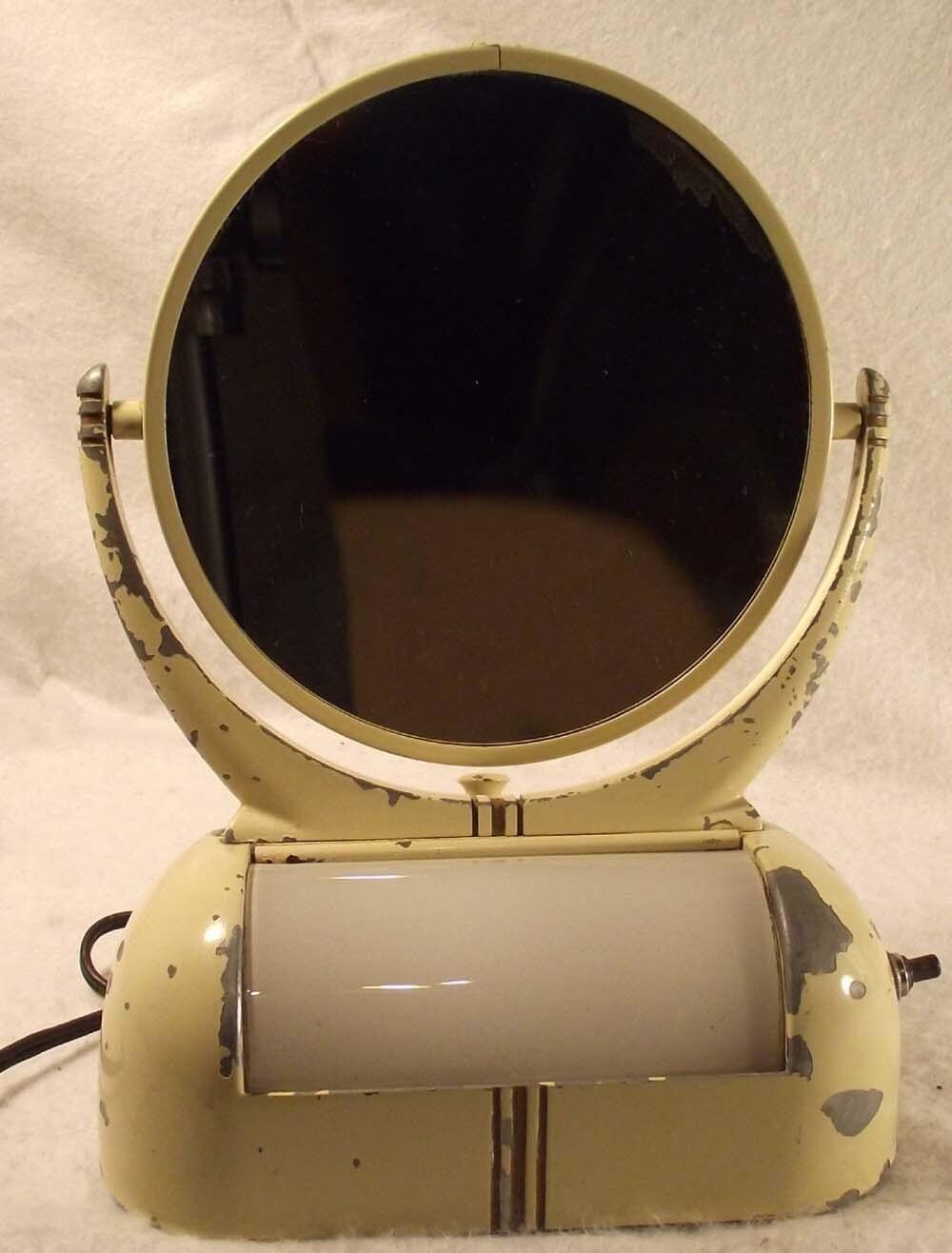 Vintage Metal Vanity Mirror