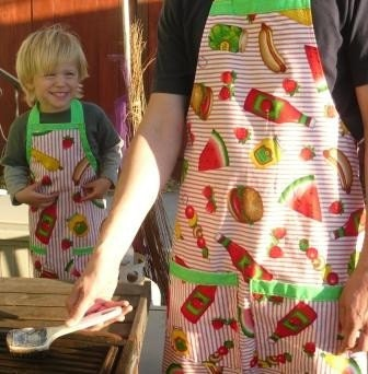 BBQ Apron - Parent and Child Apron Set/FREE SHIPPING
