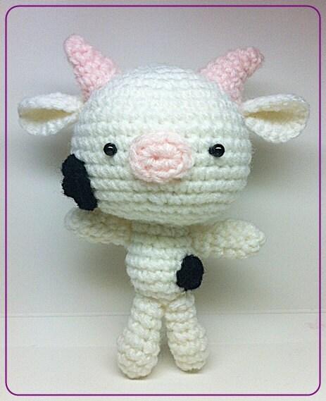 Amigurumi Care Instructions : Amigurumi White Cow by MakebyMarisa on Etsy