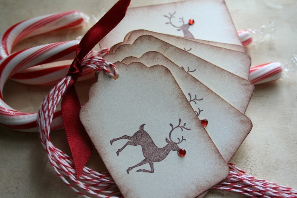 Christmas Gift Tags- Rudolph the Red Nose Reindeer