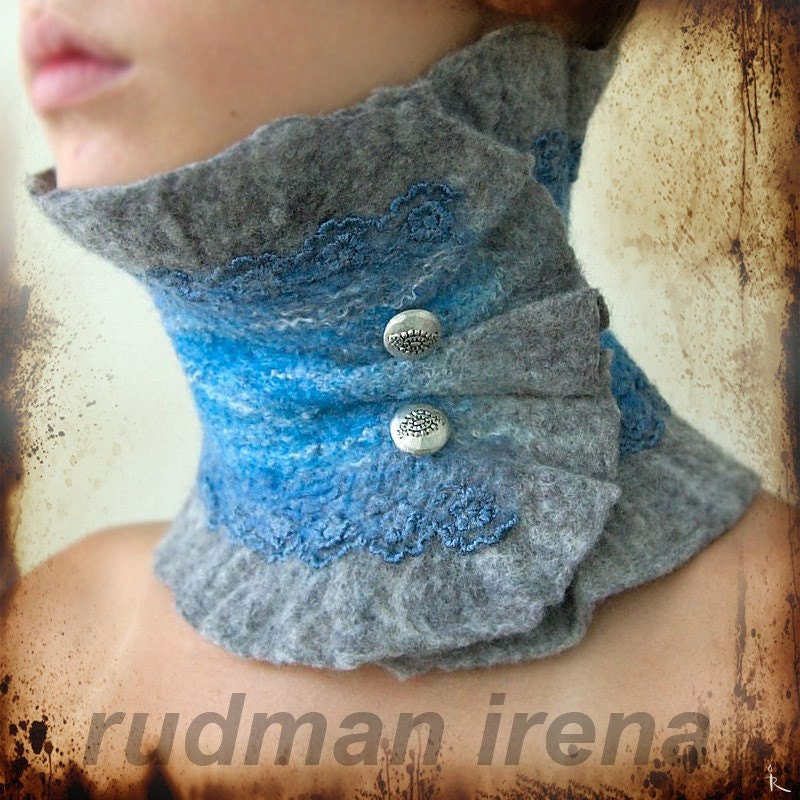 Etsy :: Rudman :: felted scarf-collar Marble and heavenly glaze from etsy.com