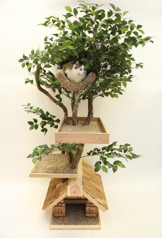 Items Similar To Adult medium Cat Tree House On Etsy