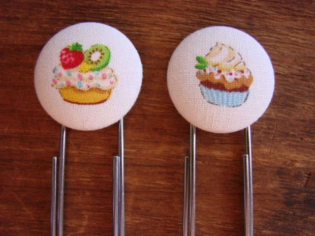 Colorful Cupcake Bookmarks/Paperclips