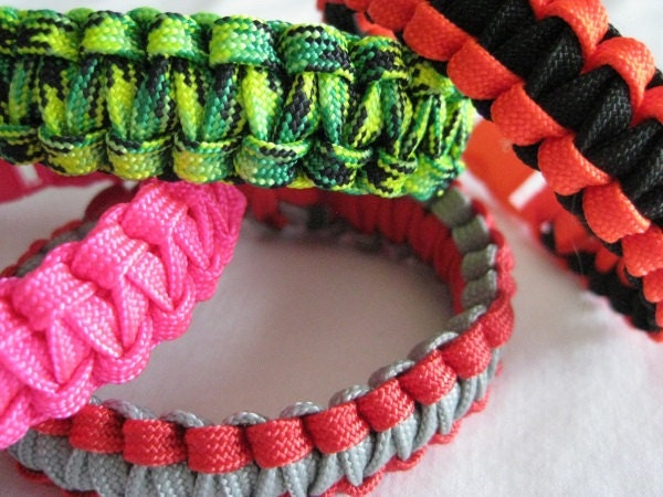 Handmade - Get 2 Custom Light Weight Paracord Bracelets