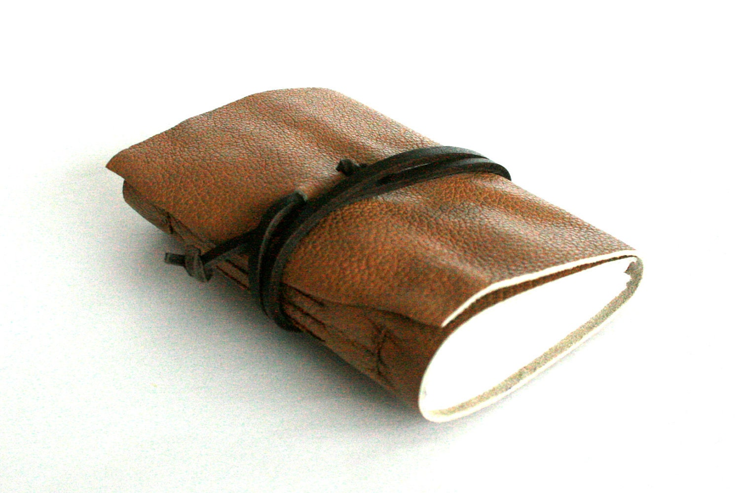 handbound leather journal by TheOrangeWindmill